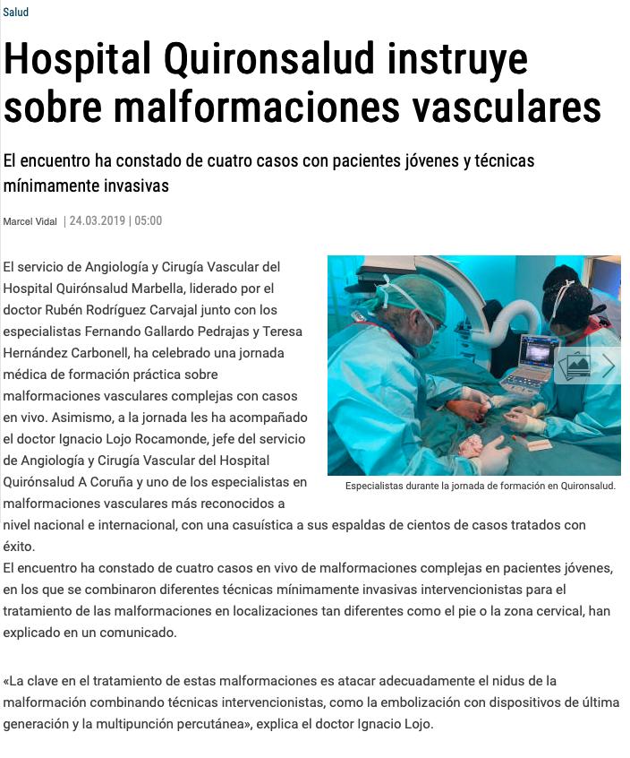 Malformaciones Vasculares Complejas